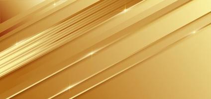 geometrischer diagonaler Hintergrund der abstrakten Schablone Gold mit goldener Linie. Luxusstil. vektor