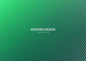 abstrakte moderne gestreifte Linien auf grünem Smaragdhintergrund. vektor