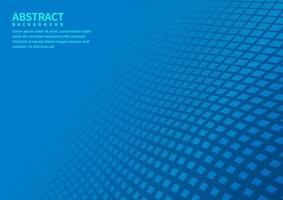 abstrakter geometrischer quadratischer Musterhintergrund mit blauer Formperspektive kann im Flyer der Cover-Design-Poster-Website verwendet werden. vektor