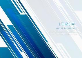 geometrisches Blau und Grau der abstrakten Technologie auf weißem Hintergrund. vektor