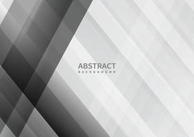 abstrakter grauer und weißer geometrischer überlappender Hintergrund. vektor