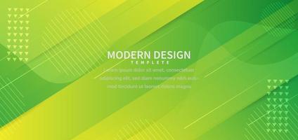 banner design geometrisk grön överlappande bakgrund med kopia utrymme för text. vektor