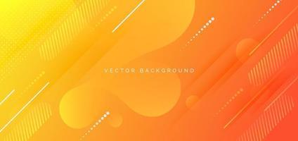 geometrischer gelboranger Farbverlaufhintergrund des Fahnenentwurfs mit Kopienraum für Text. vektor