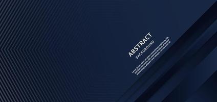 Zusammenfassung der grauen Streifenlinien auf dunkelblauem Hintergrund mit Kopierraum für Text. modernes Konzept. vektor