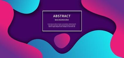 abstrakt geometrisk bakgrund. flytande form. minimalt mönster. blå och rosa lutning färger design bakgrund. vektor