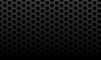 abstrakt mörkgrå hexagon mesh mönster dim ljus bakgrundsstruktur vektorillustration.