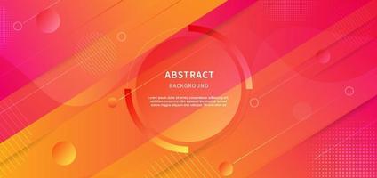 abstrakter geometrischer Hintergrund. Wellenflüssigkeit mit Streifenlinien. Hintergrund Diagonale gelb, orange und rosa Farbverlauf Design. vektor