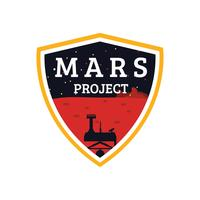 Mars-Projekt-Patch vektor