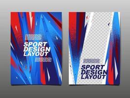Sportdesign-Layout, Vorlagendesign, Sporthintergrund, dynamisches Poster, Pinselgeschwindigkeitsbanner, Vektorillustration. vektor