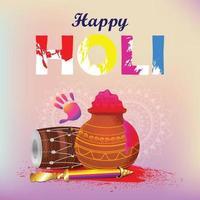 Happy Holi Feier kreatives Konzept