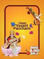 glückliche vasant panchami grußkarte