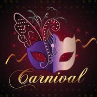 Karnevalsfeierhintergrund mit kreativer Maske vektor