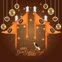 Guru Gobind Singh Jayanti Sikh Dasam Guru Celebratrion vektor
