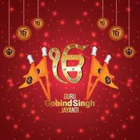 Guru Gobind Singh Jayanti Grußkarte vektor