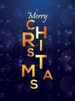 god jul och nyårsfest reklamblad vektor