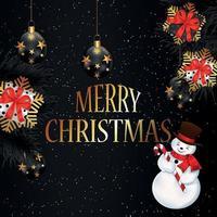 Frohe Weihnachten und frohe Neujahrsfeier Grußkarte vektor