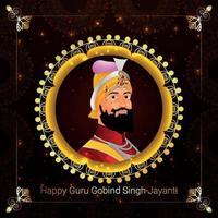 guru gobind singh jayanti gratulationskort vektor