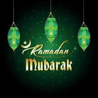 Ramadan Mubarak Feier Grußkarte vektor