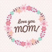 Glücklicher Blumen-Kranz der Mutter Tages vektor