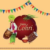 kreativ illustration för lycklig lohri fest