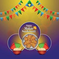 Makar Sankranti bunte Drachen mit Schnurspule