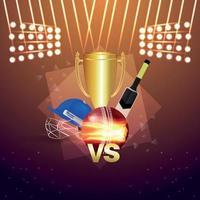 Cricket-Meisterschaftsturnier-Konzept vektor