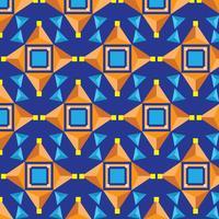 Kühler Kaleidoskop-Muster-Vektor vektor