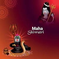 maha shivratri firande hälsning vektor