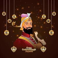 guru gobind singh jayanti firande vektor