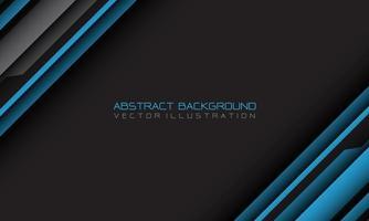 geometrischer Schrägstrich des abstrakten blauen grauen Cyber mit Leerzeichen und moderner futuristischer Hintergrundvektorillustration des Textdesigns. vektor