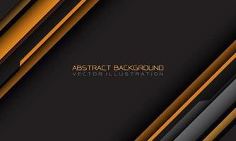 geometrischer Schrägstrich des abstrakten gelben grauen Cyber mit Leerzeichen und moderner futuristischer Hintergrundvektorillustration des Textdesigns. vektor