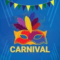 karneval firande part hälsning vektor