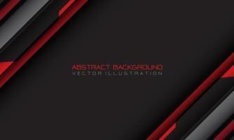 geometrischer Schrägstrich des abstrakten roten grauen Cyber mit Leerzeichen und moderner futuristischer Hintergrundvektorillustration des Textdesigns. vektor