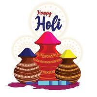 Happy Holi Feier Design-Konzept