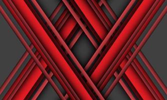 abstrakt röd linje korsöverlappning på grå design modern futuristisk bakgrundsvektorillustration. vektor