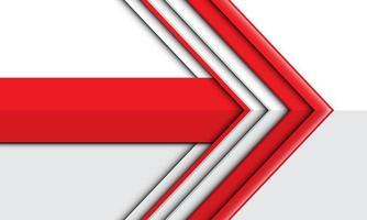 abstrakt röd pilriktning på vit design modern futuristisk bakgrundsvektorillustration. vektor