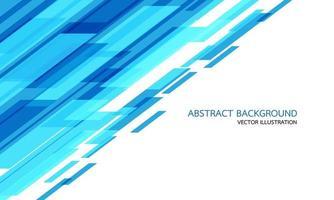 abstrakte blaue geometrische Geschwindigkeitstechnologie auf Weiß mit Leerzeichen und moderner futuristischer Hintergrundvektorillustration des Textdesigns. vektor