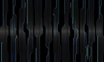 abstrakt blå ljus krets på grå metallisk svart geometrisk cyber design modern teknik futuristisk bakgrund vektorillustration. vektor
