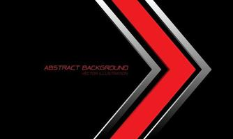 abstrakt röd silver pilriktning på svart med textdesign modern lyx futuristisk bakgrundsvektorillustration. vektor