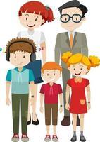 medlem av familjen seriefigur på vit bakgrund vektor