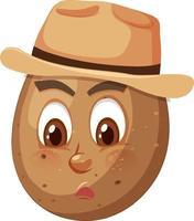 Kartoffel-Zeichentrickfigur mit Gesichtsausdruck