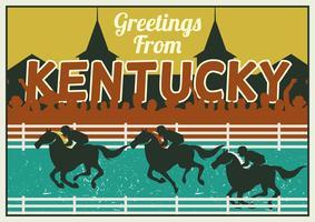 Postkarten-Konzept Kentuckys Derby vektor