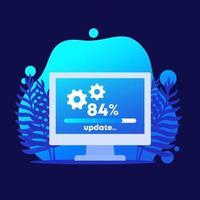 ikon för uppdatering eller systemuppgradering vektor