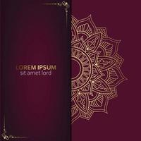 Luxus-Ziermandala-Hintergrund mit Premium-Vektor des arabischen islamischen Ostmusterstils