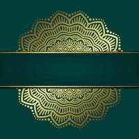 Luxus Gold Mandala verzierten Hintergrund für Hochzeitseinladung, Buchcover mit Mandala Element Stil Premium Vektor