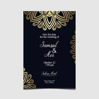 floraler und mandala dekorativer dekorativer Rahmenhintergrund-Luxusprämienvektor