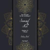 Mandala mit Blumenverzierungsmuster, Vektor-Mandala-Entspannungsmuster einzigartiges Design mit Naturstil. Handzeichnung Zentangle Mandala Element für Seitendekoration Karten, Buch, Logos vektor
