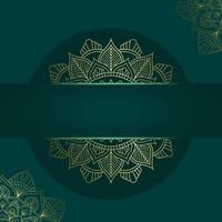 mandala mall med eleganta, klassiska element. perfekt för inbjudan, flygblad, meny, broschyr, bakgrund premiumvektor vektor