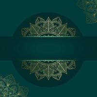 Mandala-Vorlage mit eleganten, klassischen Elementen. ideal für Einladung, Flyer, Menü, Broschüre, Hintergrund Premium Vektor