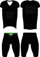 10 kundenspezifische Gestaltung American-Football-Uniformen Illustration vektor
